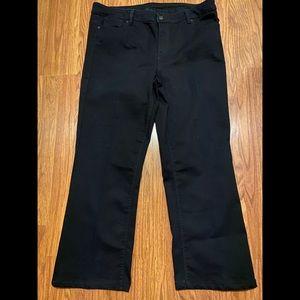 NWOT Liz Claiborne black bootcut Jeans sz 18W
